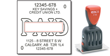 Calgary Stamp & Stencil, manufacturer of Rubber Date Stamps, as well as self-inking stamps.  We also manufacture corporate desk seals, name badges, custom stencils, name tags, badges, lamacoids, specialty engraving and more.
