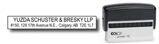Calgary Stamp & Stencil, manufacturer of Trodat & Colop Self-Inking Stamps, as well as traditional rubber stamps.  We also manufacture corporate desk seals, name badges, custom stencils, name tags, badges, lamacoids and specialty engraving.