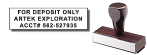 Calgary Stamp & Stencil, manufacturer of Rubber Stamps, as well as self-inking stamps.  We also manufacture corporate desk seals, name badges, custom stencils, name tags, badges, lamacoids, specialty engraving and more.