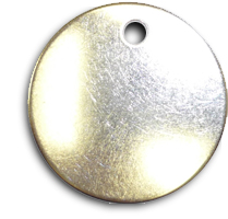 Circular Metal Tags Stainless Steel
