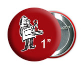 """1"""" Buttons in Calgary, pinback buttons, campaign buttons, promotional buttons by Canadian button maker Calgary Stamp & Stencil."""