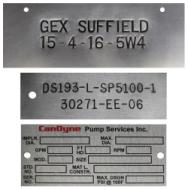Custom Aluminum Tags