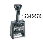 "Numbering Machine 8-wheel 3/16"" Characters"